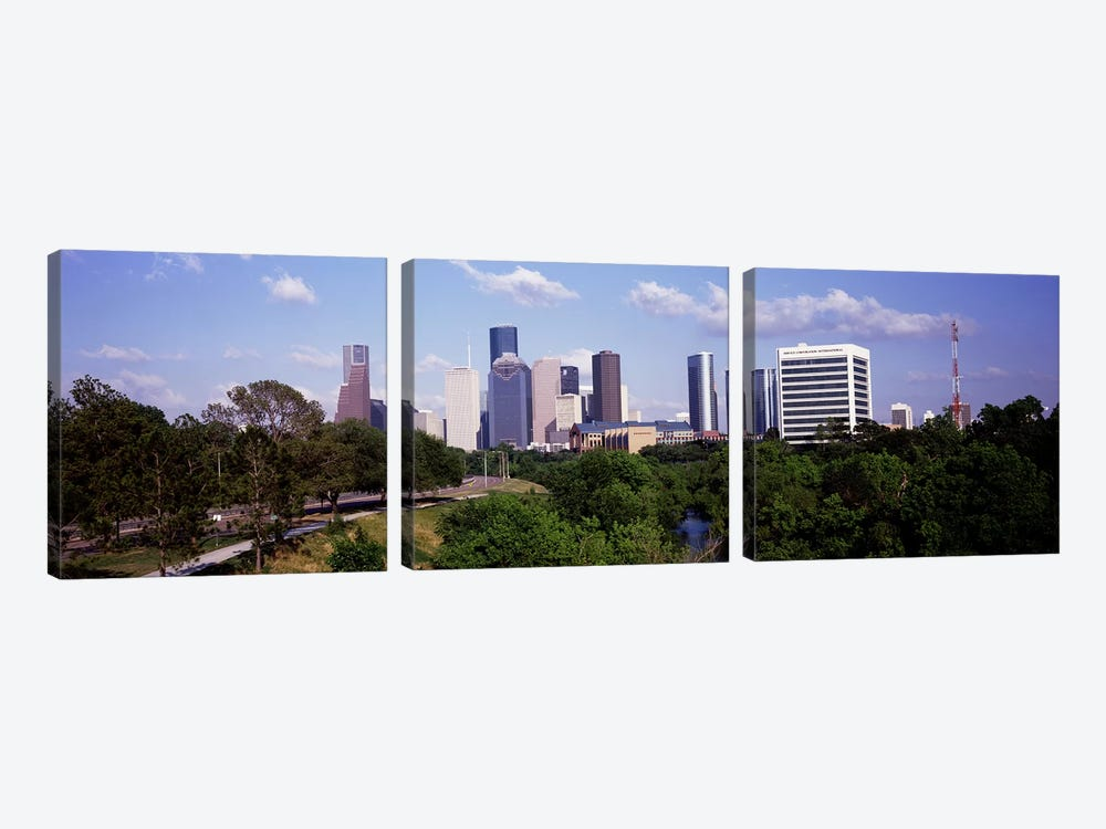 Downtown skylines, Houston, Texas, USA #2 by Panoramic Images 3-piece Canvas Print