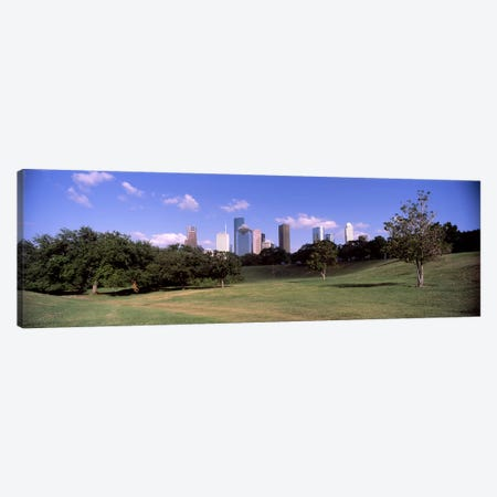 Downtown skylines viewed from a park, Houston, Texas, USA Canvas Print #PIM10825} by Panoramic Images Canvas Print