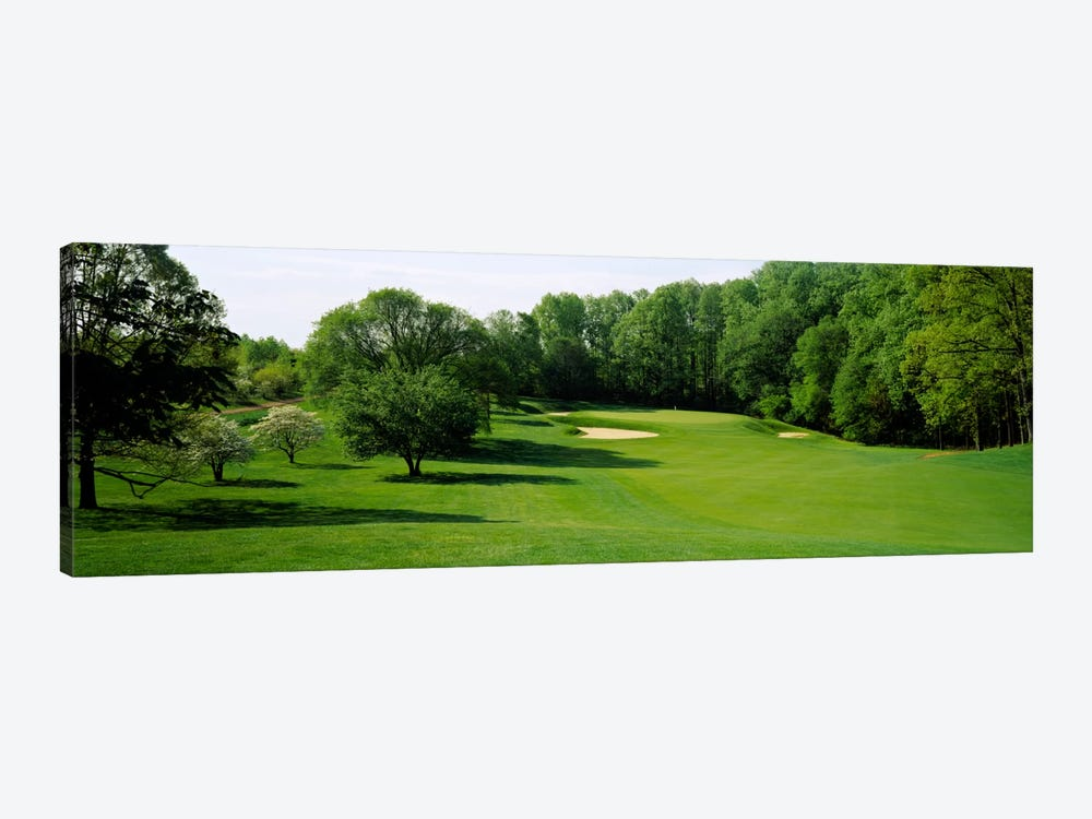 Trees On A Golf Course, Baltimore Country Club, Baltimore, Maryland, USA by Panoramic Images 1-piece Canvas Wall Art