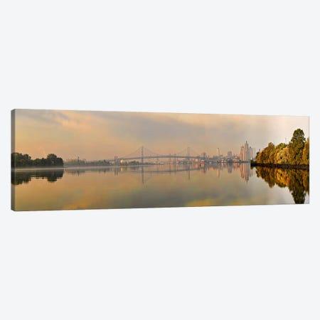 Bridge across a river, Benjamin Franklin Bridge, Delaware River, Philadelphia, Pennsylvania, USA Canvas Print #PIM10830} by Panoramic Images Canvas Art Print