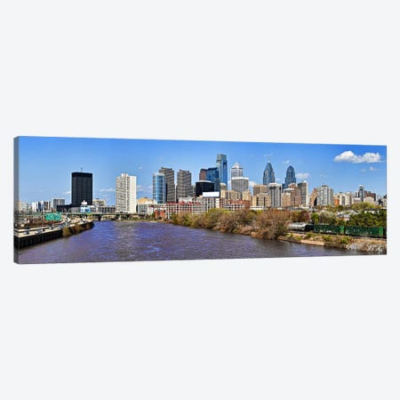 Skyscrapers in a city, Liberty Tower, Comcast Center, Philadelphia, Pennsylvania, USA Canvas Print #PIM10831} by Panoramic Images Canvas Art Print
