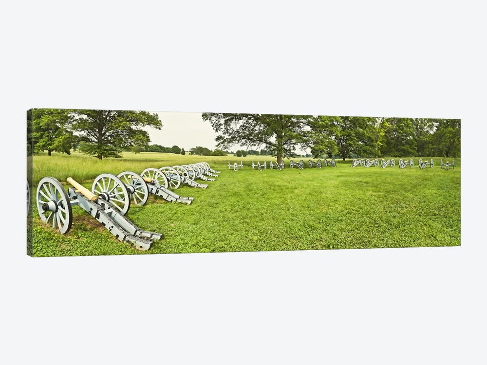 Cannons in a park, Valley Forge National Historic Park, Philadelphia, Pennsylvania, USA by Panoramic Images 1-piece Canvas Wall Art
