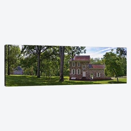 Facade of a building, Washington's Headquarters, Valley Forge National Historic Park, Philadelphia, Pennsylvania, USA Canvas Print #PIM10833} by Panoramic Images Canvas Print