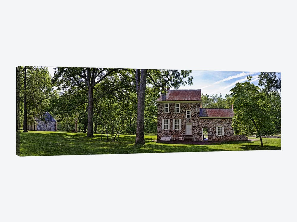 Facade of a building, Washington's Headquarters, Valley Forge National Historic Park, Philadelphia, Pennsylvania, USA by Panoramic Images 1-piece Art Print