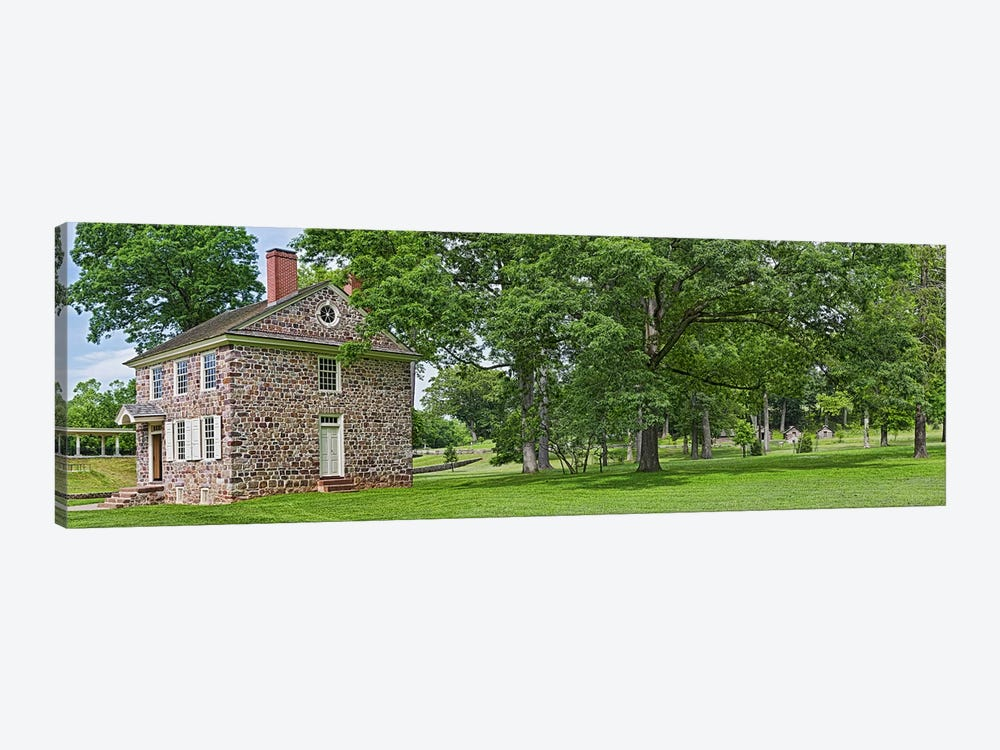 Buildings in a farm, Washington's Headquarters, Valley Forge National Historic Park, Philadelphia, Pennsylvania, USA by Panoramic Images 1-piece Canvas Art
