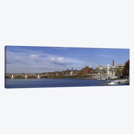 Francis Scott Key Bridge over the Potomac River, Old Georgetown, Washington DC, USA Canvas Print #PIM10836} by Panoramic Images Canvas Artwork