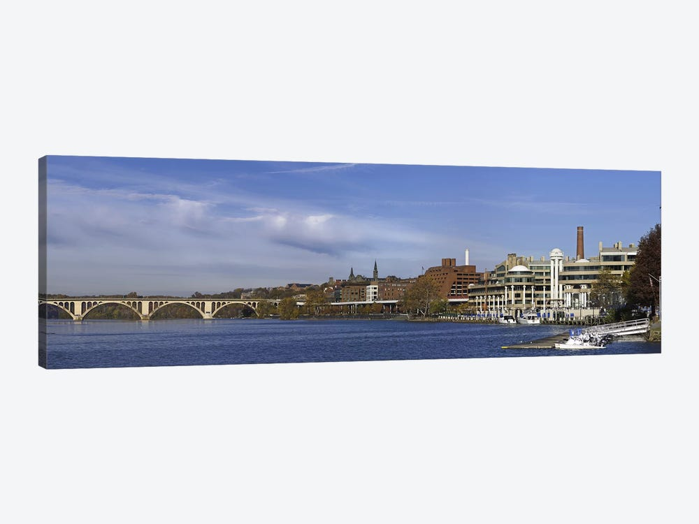 Francis Scott Key Bridge over the Potomac River, Old Georgetown, Washington DC, USA by Panoramic Images 1-piece Canvas Wall Art