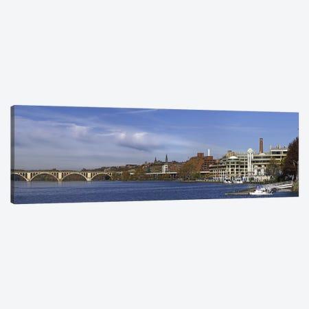 Francis Scott Key Bridge over the Potomac River, Old Georgetown, Washington DC, USA 3-Piece Canvas #PIM10836} by Panoramic Images Canvas Artwork