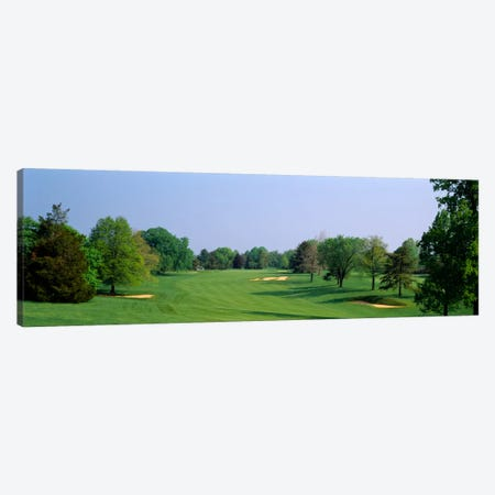 Panoramic view of a golf course, Baltimore Country Club, Maryland, USA Canvas Print #PIM1083} by Panoramic Images Canvas Art Print