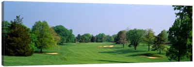 Panoramic view of a golf course, Baltimore Country Club, Maryland, USA Canvas Art Print