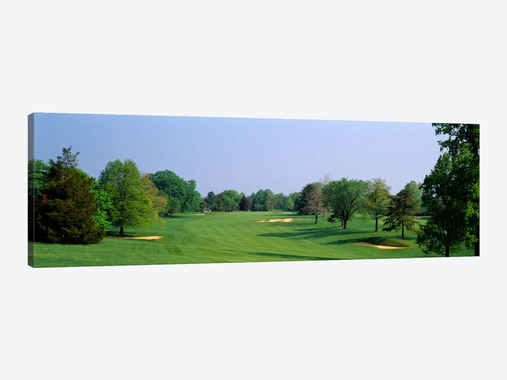 Panoramic view of a golf course, Baltimore Country Club, Maryland, USA by Panoramic Images 1-piece Canvas Art Print
