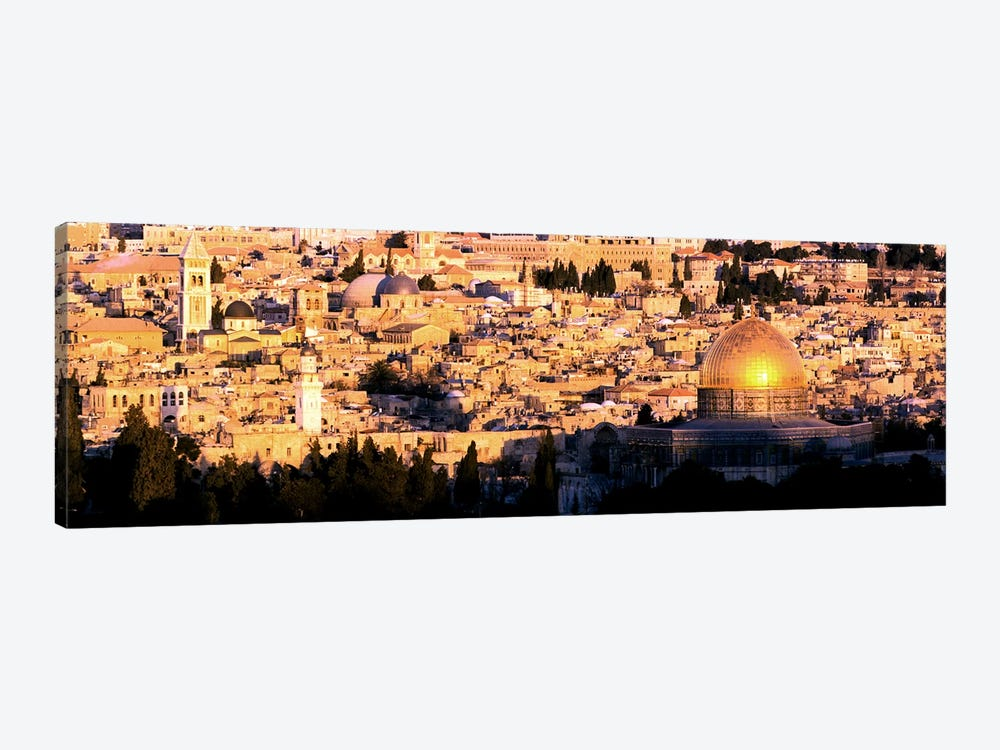 Mosque in a cityDome of the Rock, Temple Mount, Jerusalem, Israel by Panoramic Images 1-piece Canvas Art Print