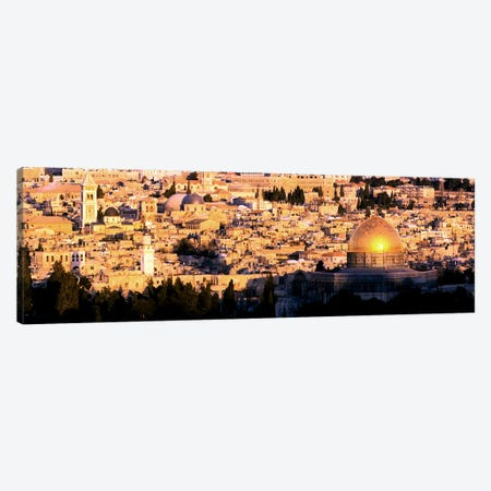 Mosque in a cityDome of the Rock, Temple Mount, Jerusalem, Israel Canvas Print #PIM10853} by Panoramic Images Canvas Print