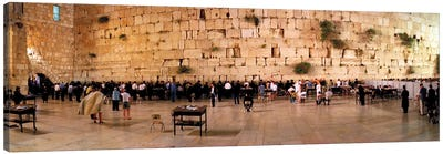 People praying in front of the Western Wall, Jerusalem, Israel Canvas Print #PIM10855