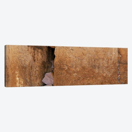 Person praying in front of Western Wall, Jerusalem, Israel Canvas Print #PIM10856} by Panoramic Images Canvas Art