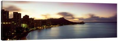Sunrise at Waikiki Beach Honolulu HI USA Canvas Art Print