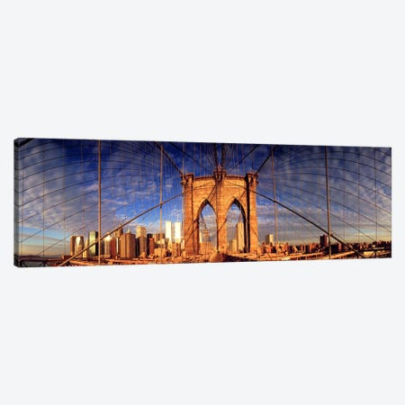 Details of the Brooklyn Bridge, New York City, New York State, USA Canvas Print #PIM10862} by Panoramic Images Canvas Wall Art