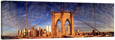 Details of the Brooklyn Bridge, New York City, New York State, USA Canvas Print #PIM10862