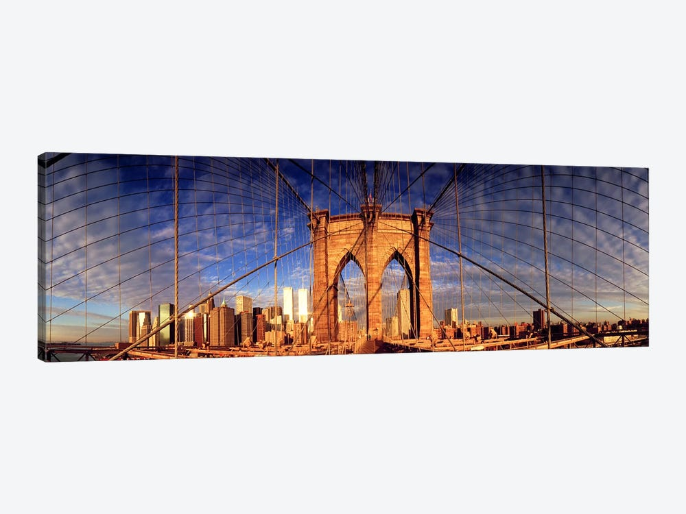 Details of the Brooklyn Bridge, New York City, New York State, USA by Panoramic Images 1-piece Canvas Print