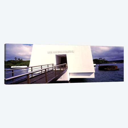 USS Arizona Memorial, Pearl Harbor, Honolulu, Hawaii, USA Canvas Print #PIM10863} by Panoramic Images Canvas Wall Art