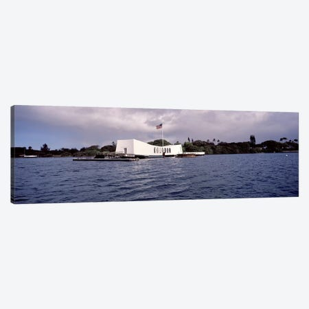 USS Arizona Memorial, Pearl Harbor, Honolulu, Hawaii, USA #2 Canvas Print #PIM10864} by Panoramic Images Canvas Art Print