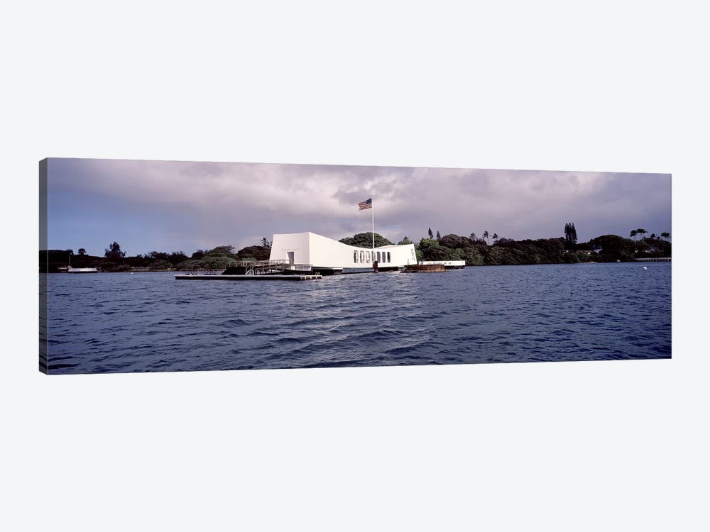 USS Arizona Memorial, Pearl Harbor, Honolulu, Hawaii, USA #2 by Panoramic Images 1-piece Canvas Print