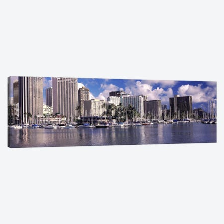 Downtown Honolulu, Oahu, Hawaii, USA Canvas Print #PIM10865} by Panoramic Images Canvas Art Print