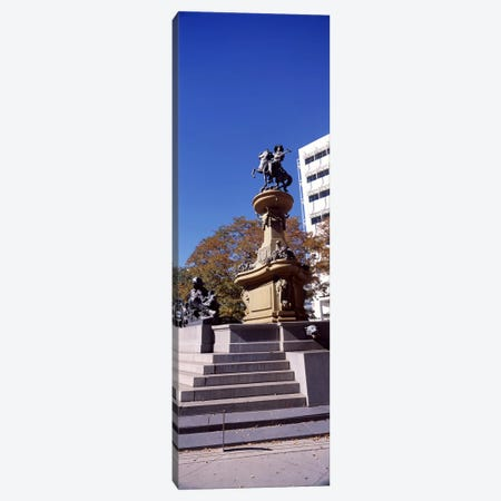 Kit Carson Statue, Pioneer Monument, Denver, Colorado, USA Canvas Print #PIM10868} by Panoramic Images Canvas Artwork