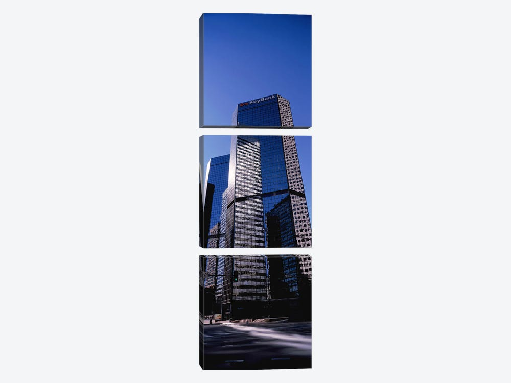 Bank building in a city, Key Bank Building, Denver, Colorado, USA by Panoramic Images 3-piece Canvas Art