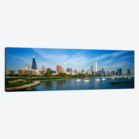 Skyscrapers in a cityChicago, Illinois, USA Canvas Print #PIM1086} by Panoramic Images Canvas Art