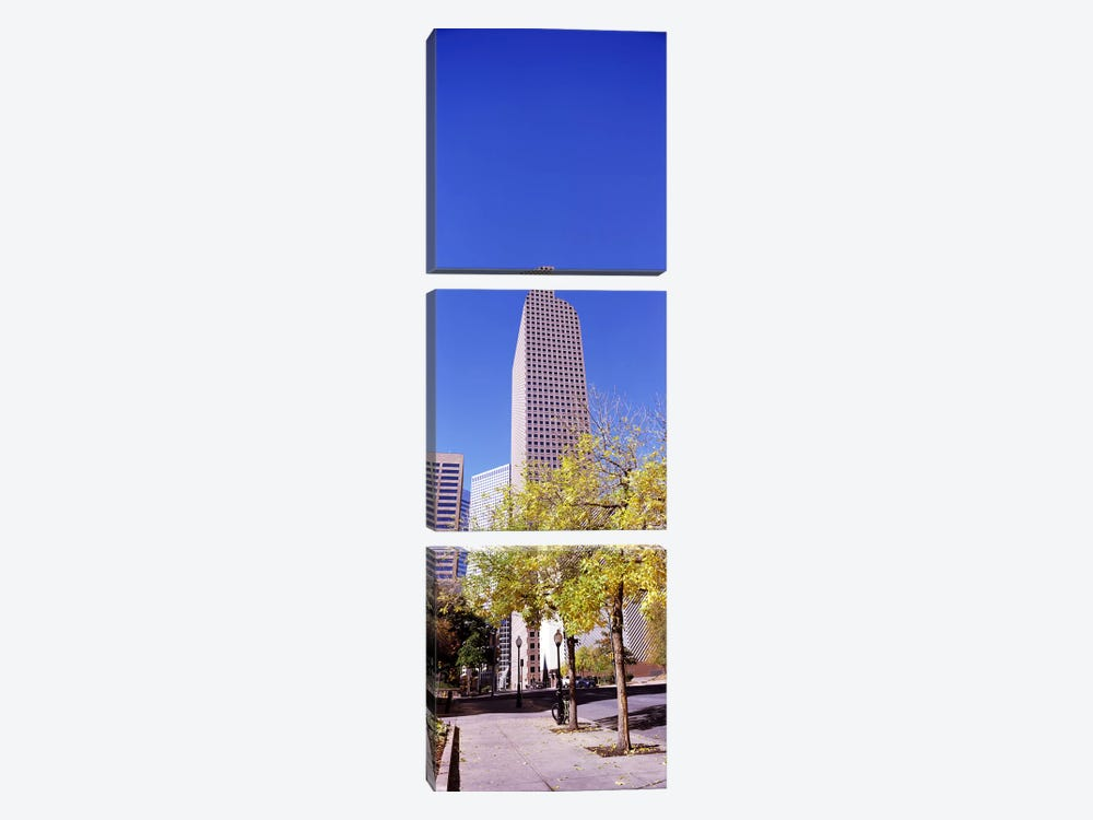 Mailbox building in a city, Wells Fargo Center, Denver, Colorado, USA by Panoramic Images 3-piece Canvas Art