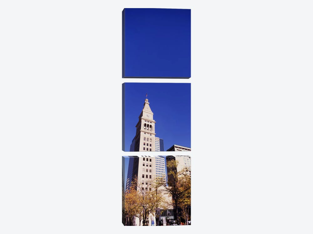 Low angle view of a Clock tower, Denver, Colorado, USA by Panoramic Images 3-piece Canvas Art Print