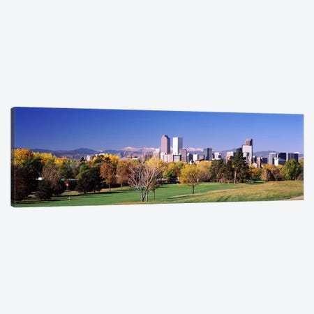 Buildings of Downtown Denver, Colorado, USA Canvas Print #PIM10872} by Panoramic Images Canvas Art Print