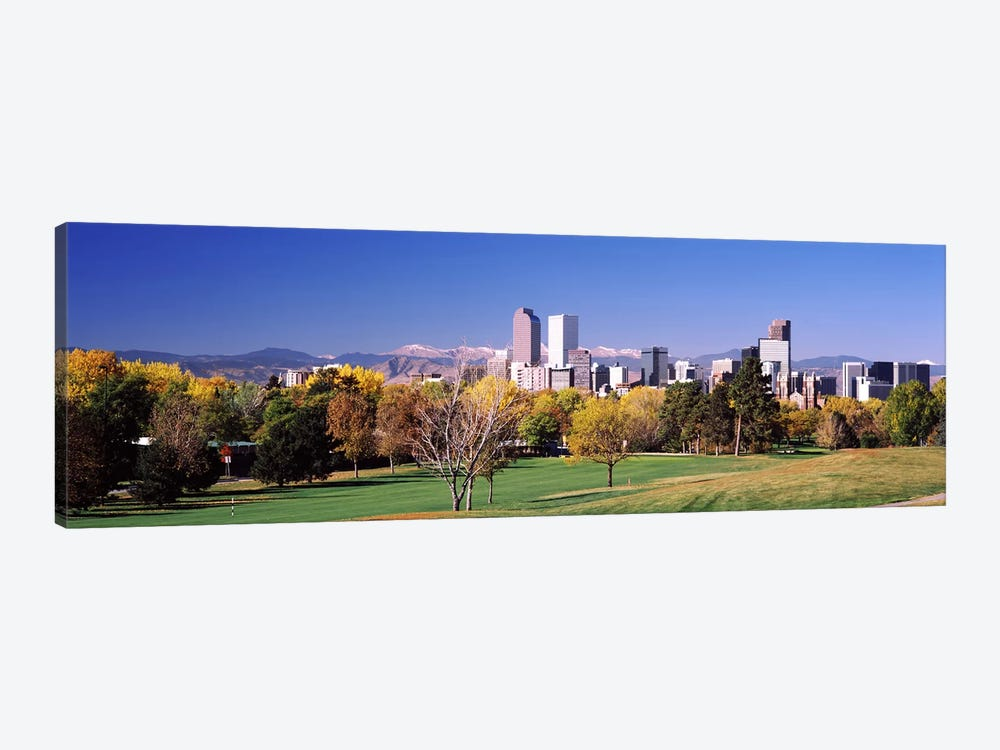 Buildings of Downtown Denver, Colorado, USA by Panoramic Images 1-piece Canvas Wall Art