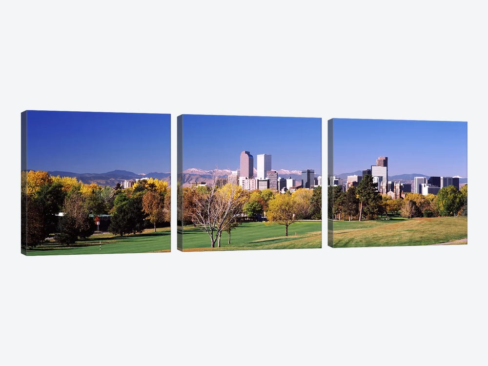 Buildings of Downtown Denver, Colorado, USA by Panoramic Images 3-piece Canvas Wall Art