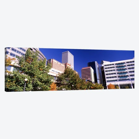 Low angle view of buildings in a city, Sheraton Downtown Denver Hotel, Denver, Colorado, USA Canvas Print #PIM10874} by Panoramic Images Canvas Artwork