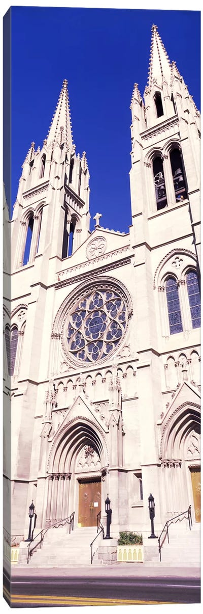 Facade of Cathedral Basilica of the Immaculate Conception, Denver, Colorado, USA Canvas Art Print