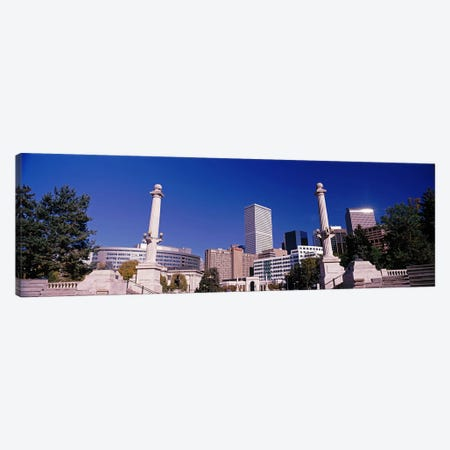 Buildings from Civic Center Park, Denver, Colorado, USA Canvas Print #PIM10877} by Panoramic Images Canvas Art