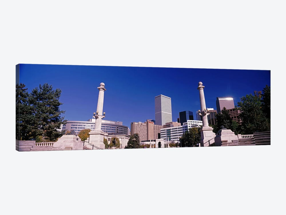 Buildings from Civic Center Park, Denver, Colorado, USA by Panoramic Images 1-piece Canvas Print