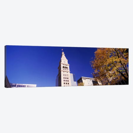 Low angle view of a Clock tower, Denver, Colorado, USA #2 Canvas Print #PIM10878} by Panoramic Images Canvas Art Print