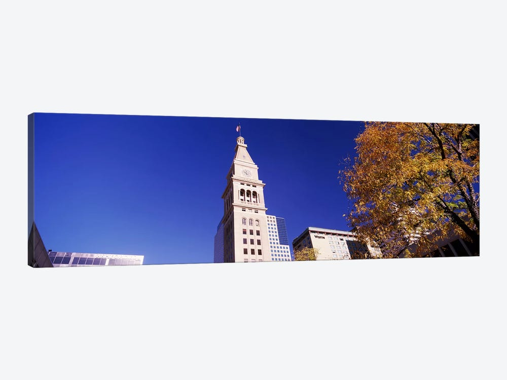 Low angle view of a Clock tower, Denver, Colorado, USA #2 1-piece Canvas Art