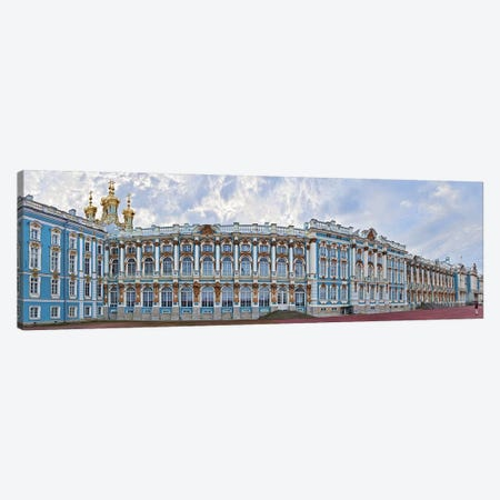 Catherine Palace courtyard, Tsarskoye Selo, St. Petersburg, Russia Canvas Print #PIM10887} by Panoramic Images Canvas Print