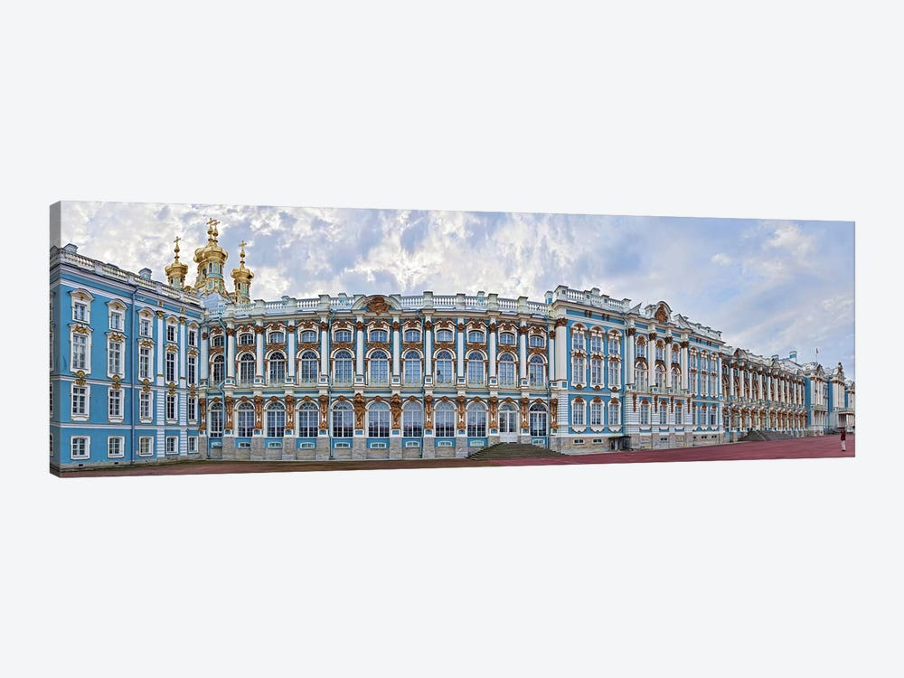 Catherine Palace courtyard, Tsarskoye Selo, St. Petersburg, Russia by Panoramic Images 1-piece Canvas Wall Art