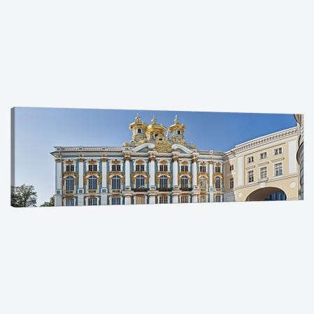 Facade of Catherine Palace, Tsarskoye Selo, St. Petersburg, Russia Canvas Print #PIM10890} by Panoramic Images Canvas Art Print