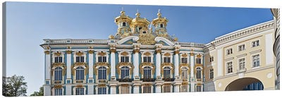 Facade of Catherine Palace, Tsarskoye Selo, St. Petersburg, Russia Canvas Art Print