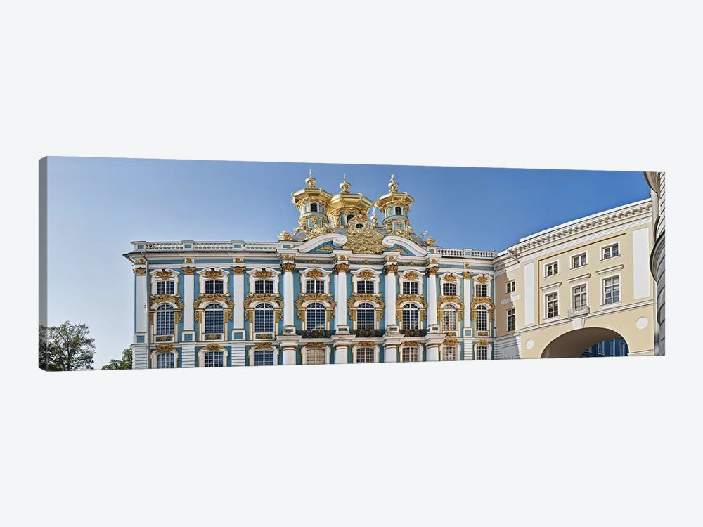 Facade of Catherine Palace, Tsarskoye Selo, St. Petersburg, Russia by Panoramic Images 1-piece Canvas Wall Art
