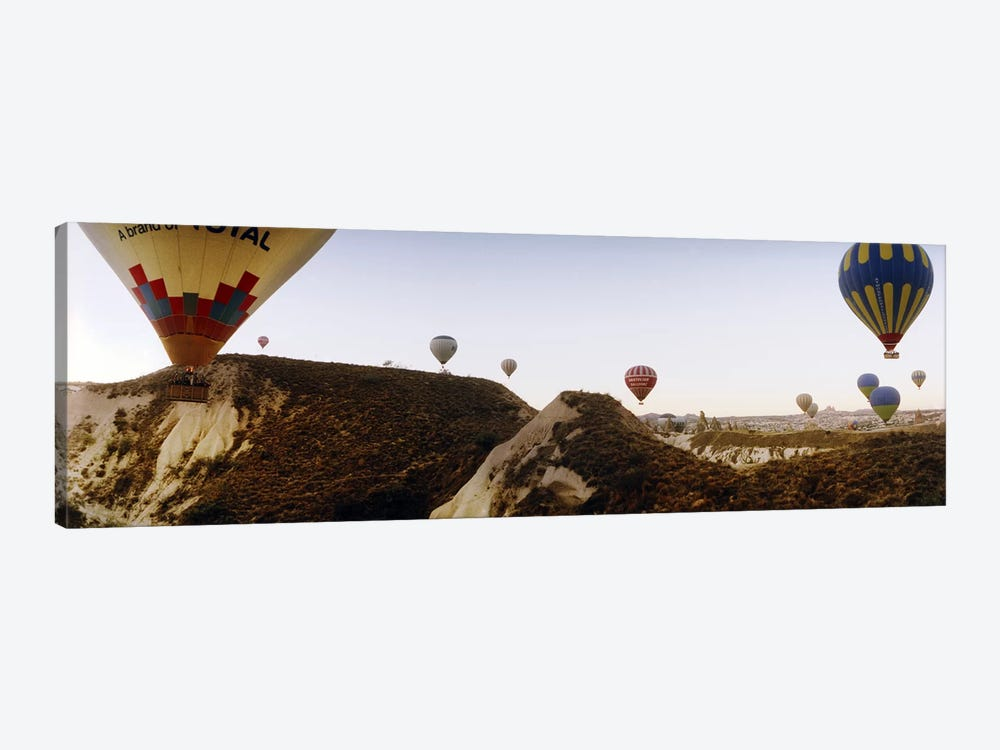 Hot air balloons over landscape at sunrise, Cappadocia, Central Anatolia Region, Turkey #2 by Panoramic Images 1-piece Canvas Wall Art