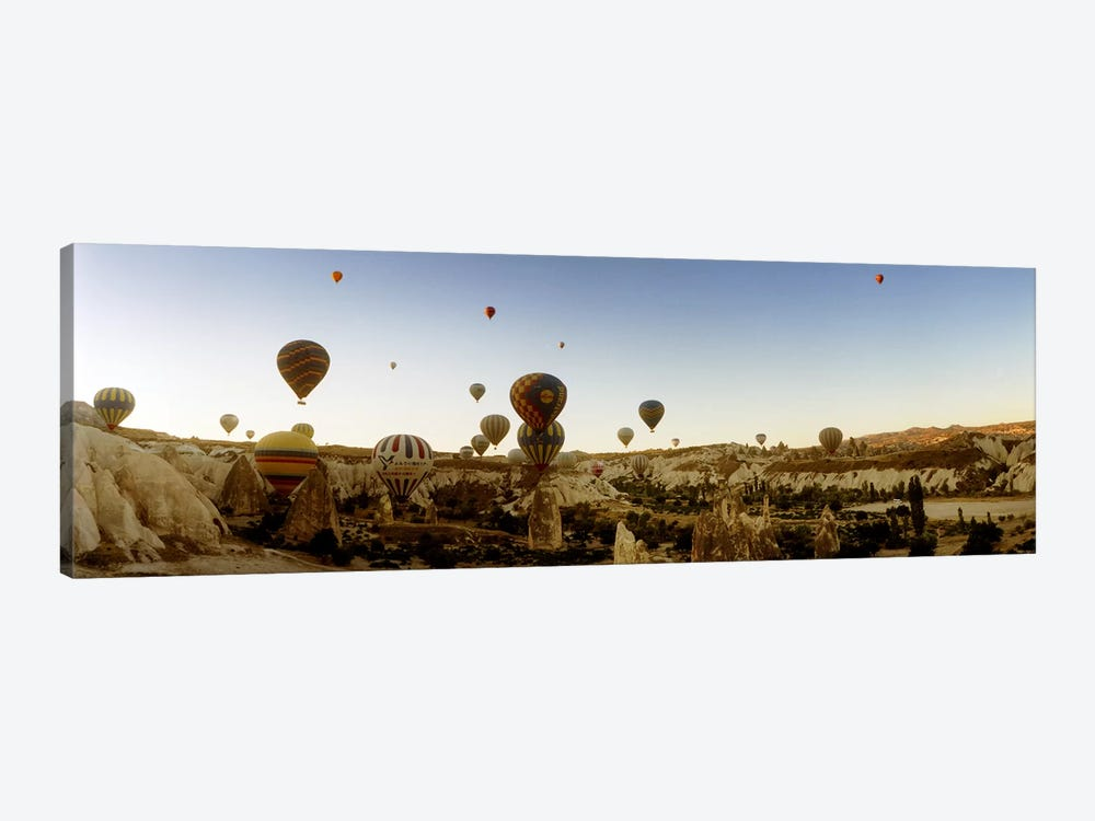 Hot air balloons over landscape at sunrise, Cappadocia, Central Anatolia Region, Turkey #4 by Panoramic Images 1-piece Canvas Wall Art
