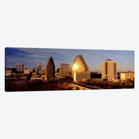 Skyscrapers in a city, Austin, Texas, USA Canvas Print #PIM1089} by Panoramic Images Canvas Art Print