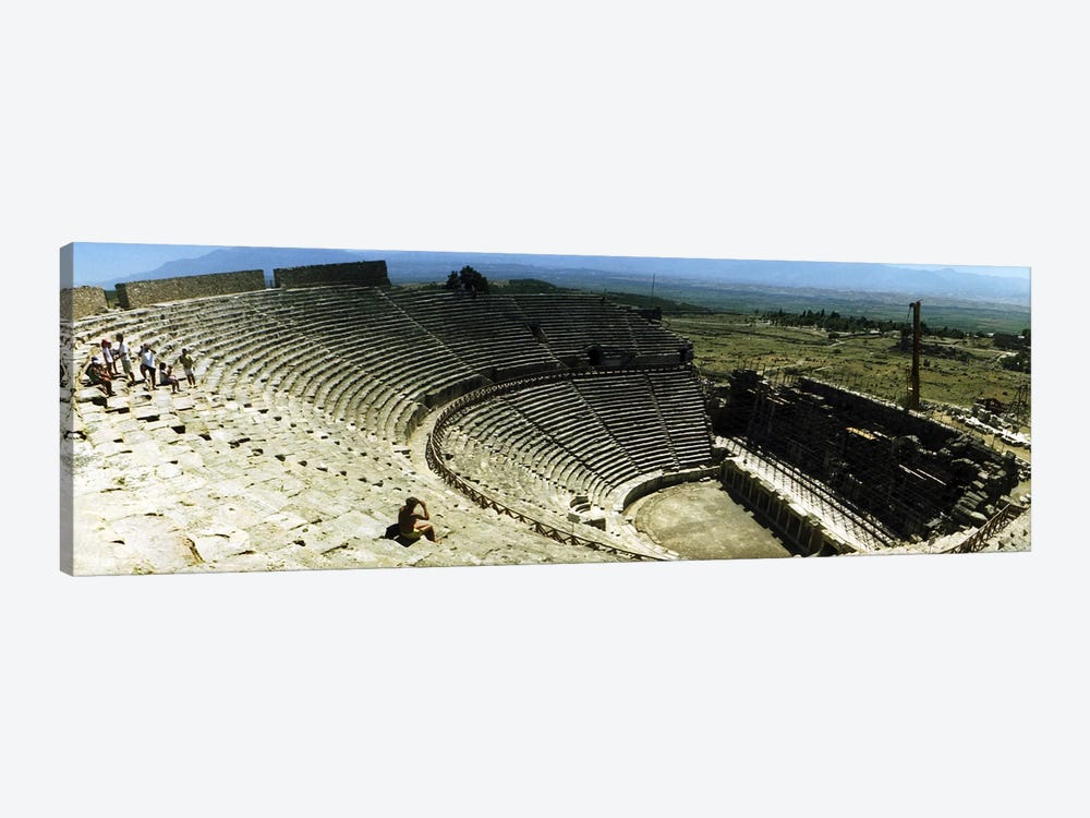 Ancient theatre in the ruins of Hierapolis, Pamukkale, Denizli Province, Turkey by Panoramic Images 1-piece Canvas Print